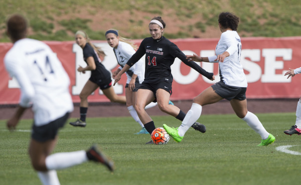 Photo courtesy of Scarletknights.com. Women's Soccer team against Penn State on October 18th.
